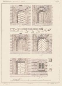 """Panels from Władysław Matlakowski """"Budownictwo ludowe na Podhalu"""", 1892. Available online here: https://www.dbc.wroc.pl/dlibra/docmetadata?id=6293"""